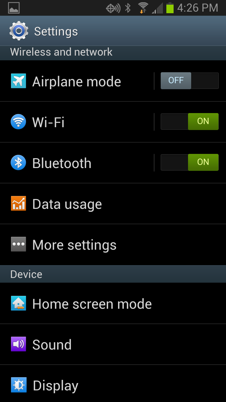 android airplane mode wifi only