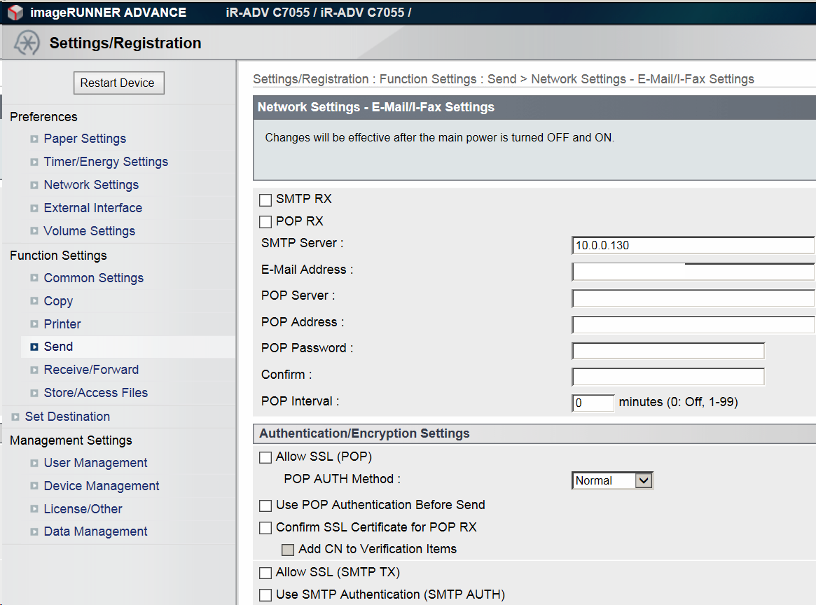 how to change ip address on canon printer
