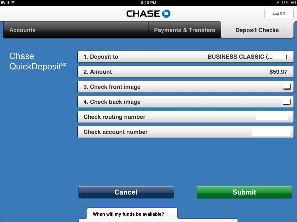 chase account number from check : miniapps ico zip app
