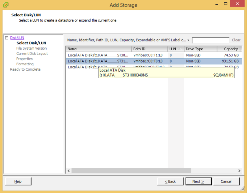 How to add a storage in ESXi 5 5 - Step by step with screenshots