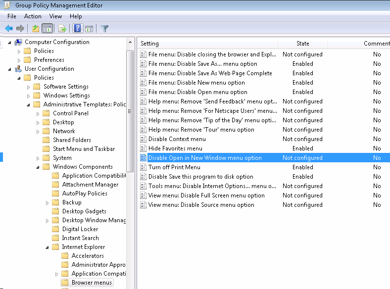 How to disable opening a new windows using group policy step by step