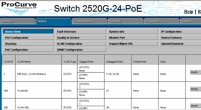 How to configure a VLAN port in HP ProCourve Switch - Step