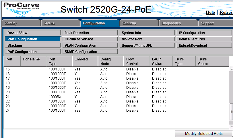 How to configure trunk in HP ProCurve Switch - Step by step