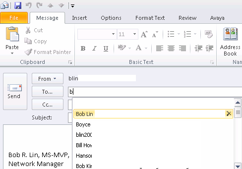 How to delete an email address from Outlook Auto-Complete