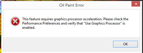 0cf98a7e62b This feature requires graphics acceleration in Photoshop - Step by step  with Screenshots
