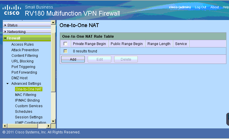 How to configure NAT in Cisco RV180W - Step by step with