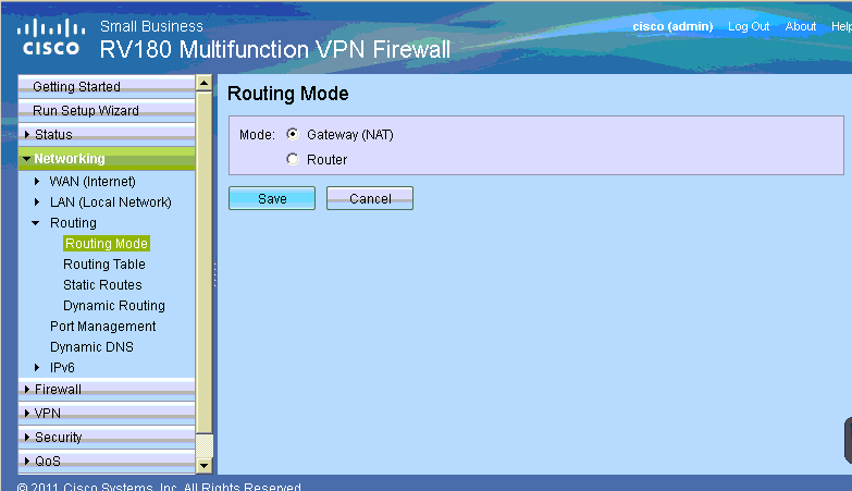 How to configure NAT in Cisco RV180W - Step by step with screenshots