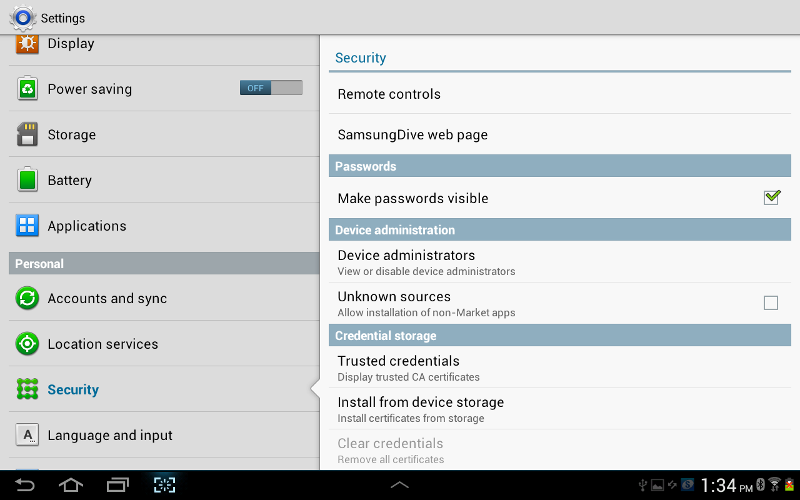 Tremendous How To Configure Security In Samsung Galaxy Tab 2 Step By Interior Design Ideas Gresisoteloinfo