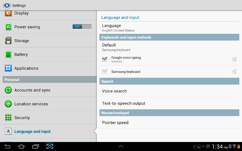samsung tablet how to change language