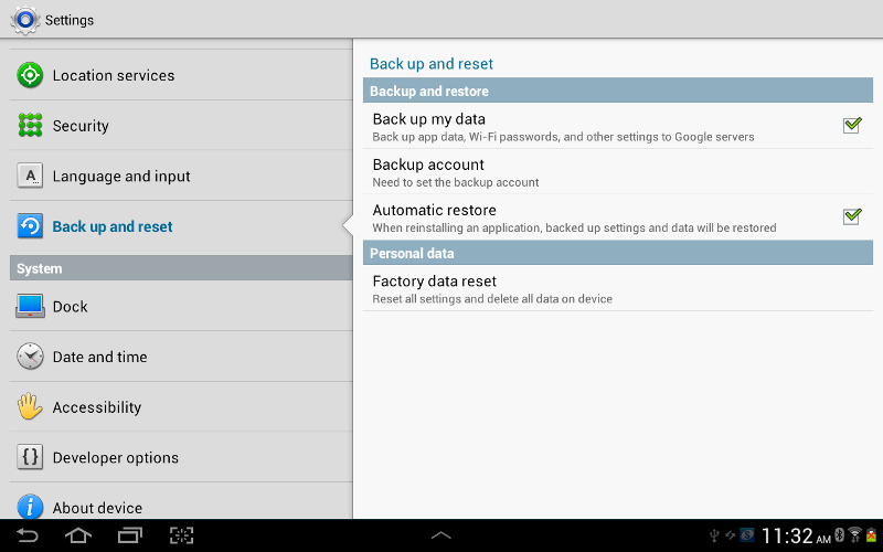 How to backup and reset in Samsung Galaxy Tab 2 - Step by step with ...