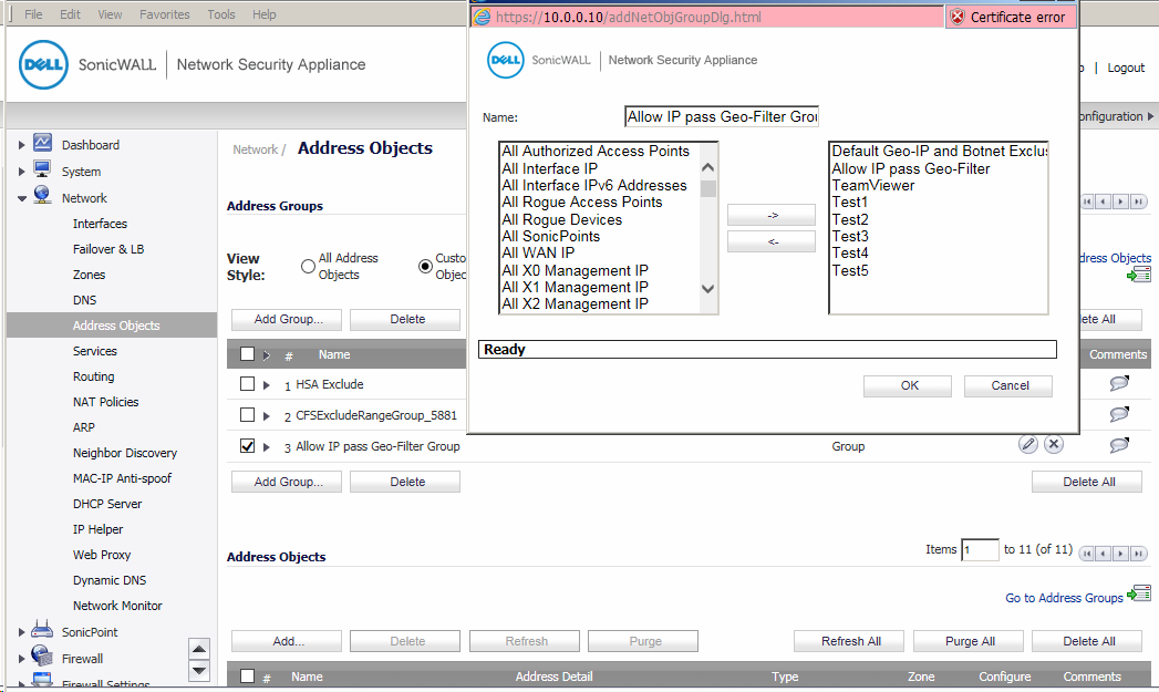 How to GEO-IP Exclusion in SonicWall - Step by step with screenshots