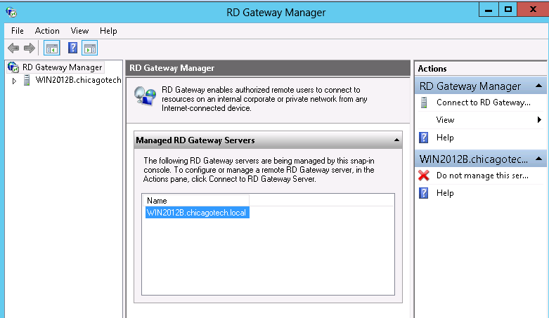 how to open rd gateway manager