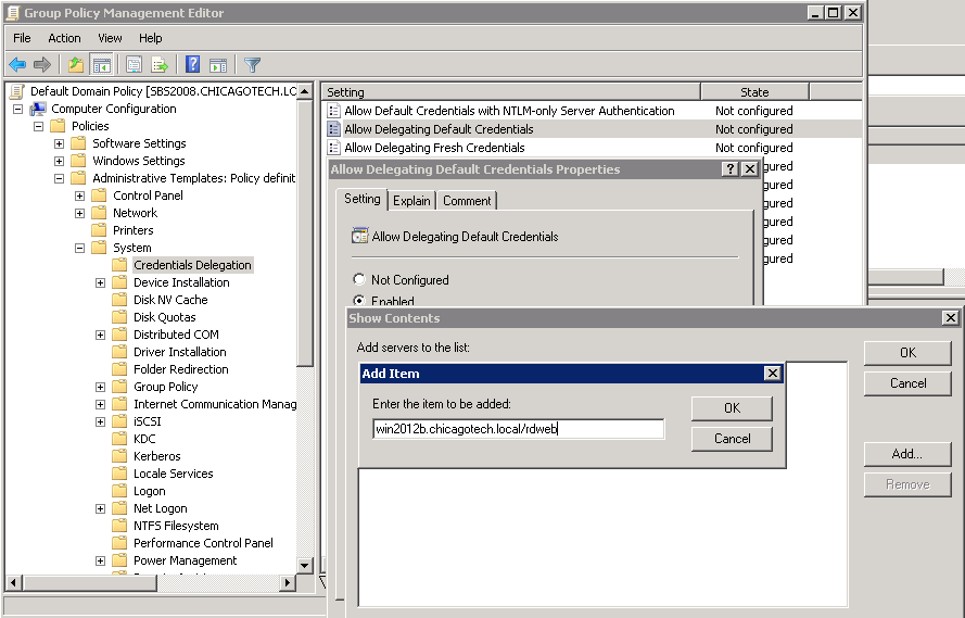 How to enable Single Sign-On in Group Policy - Step by step