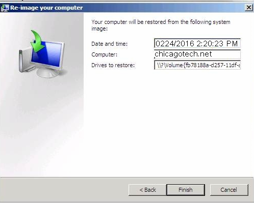 how to run windows bare metal recovery step by step with