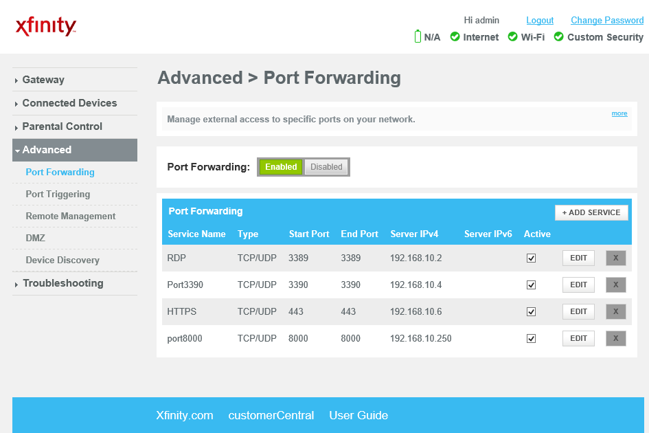 How to configure Port Forwarding in xfinity Modem - Step ...